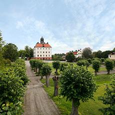 Vy över Engsö slott i sommarlandskap. Fotograf: Jan Gustafsson.