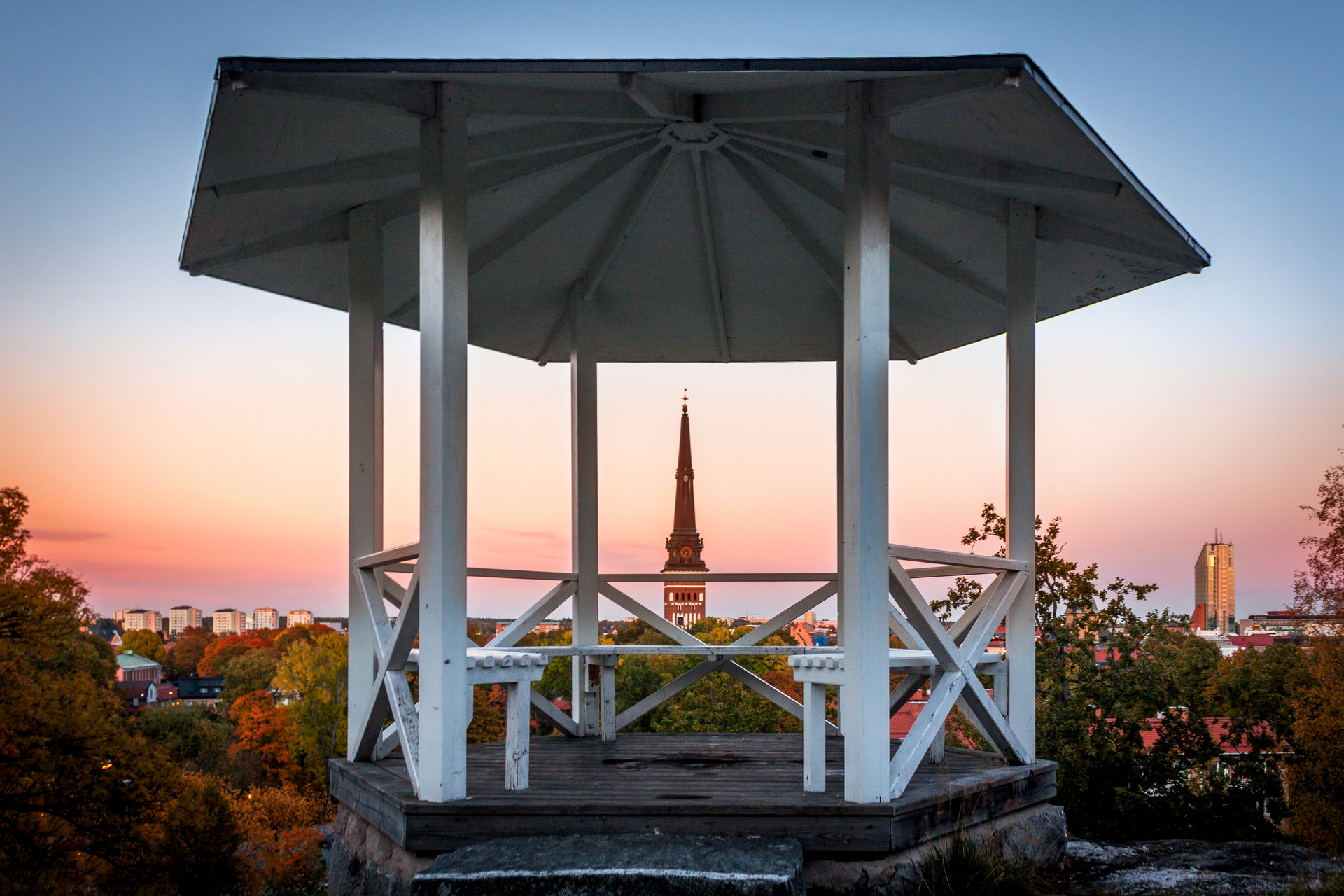 Lusthus på Djäkneberget i Västerås. Fotograf: Avig Photo