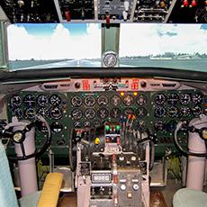 Bild visar en flygsimulator. Fotograf: Tommy Olsson