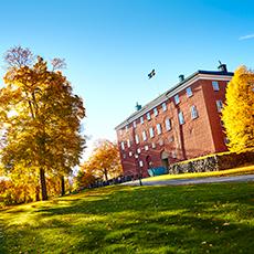 Bild visar fasaden till Västerås slott. Foto: Pia Nordlander