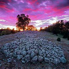 Fin kvällsbild från Hornsåsens gravfält. Foto: Pressbild