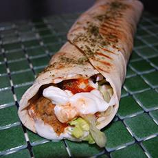 En wrap från Bar Mangia Mi. Foto: Pressbild