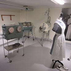Visar ett rum i sjukhusmiljö
