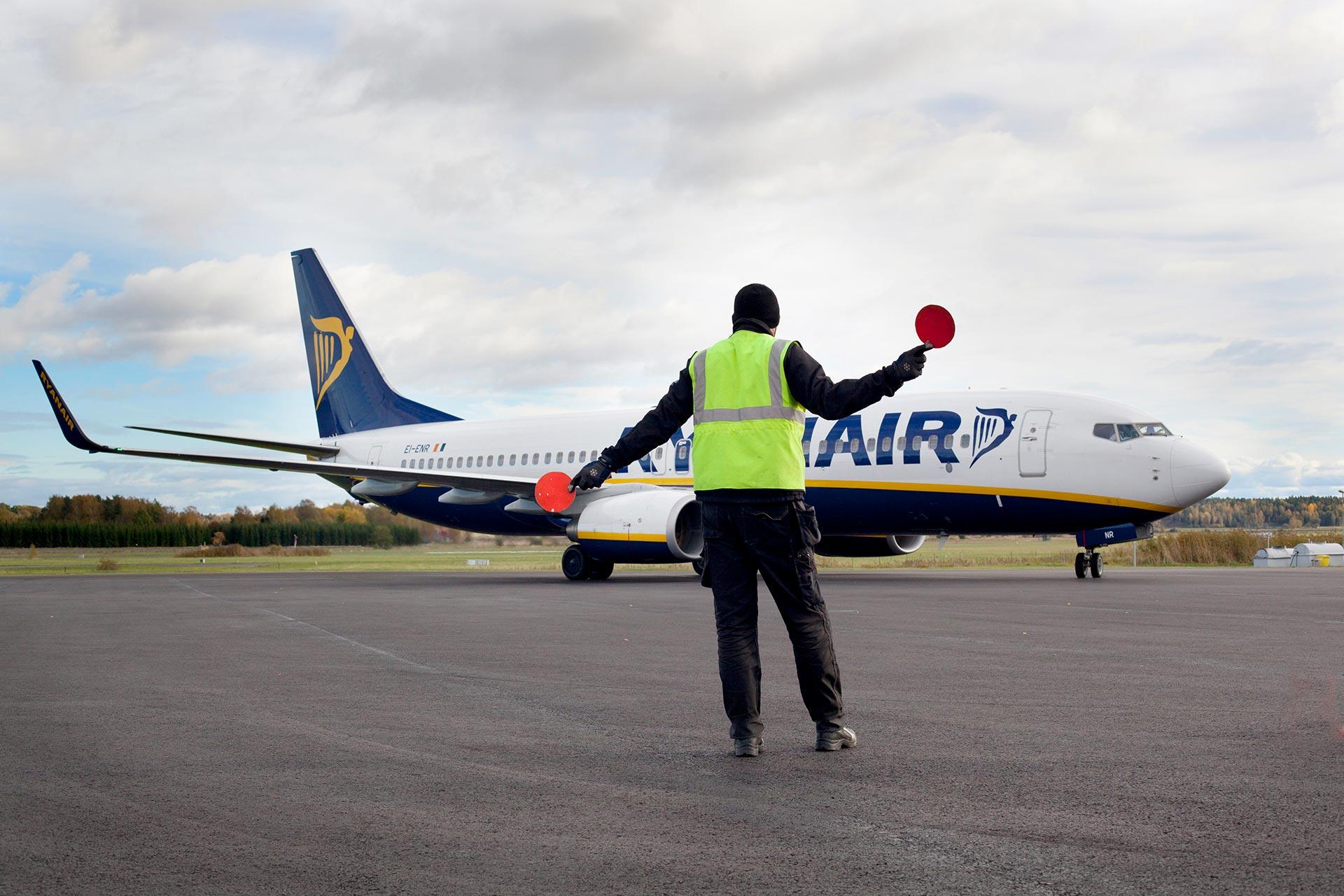 Flygplan landar på Västerås Airport. Fotograf: Clifford Shirley