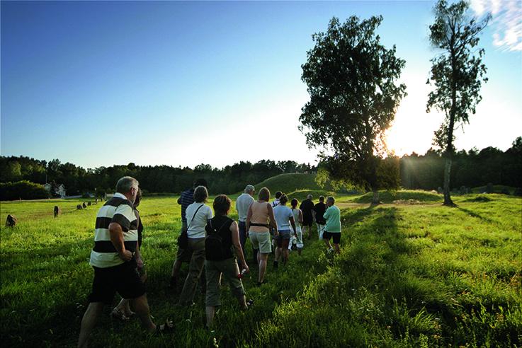 Guidning på Anundshög i Västerås.a