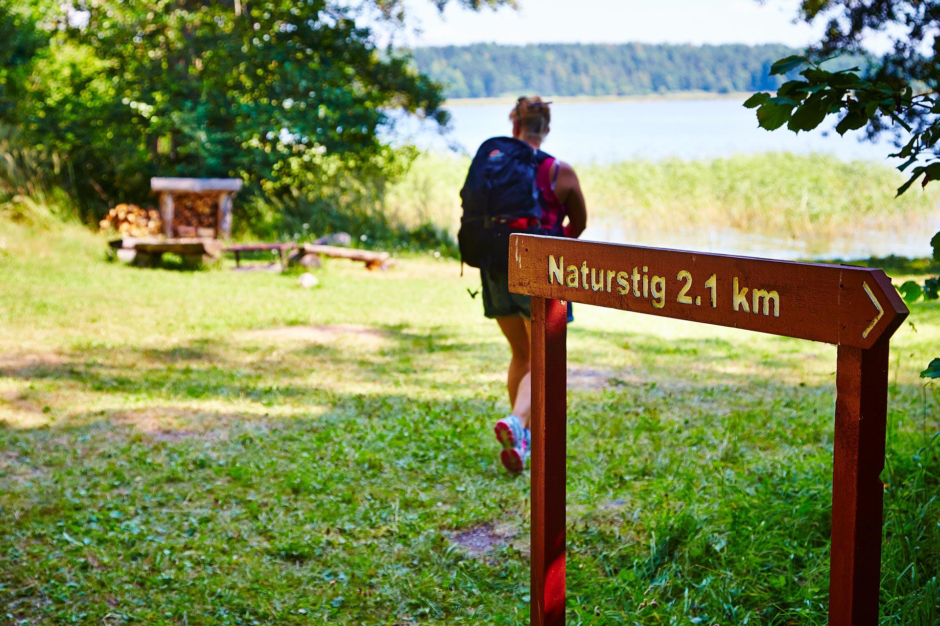 Vandring på naturstig i Västerås. Fotograf: Pia Nordlander