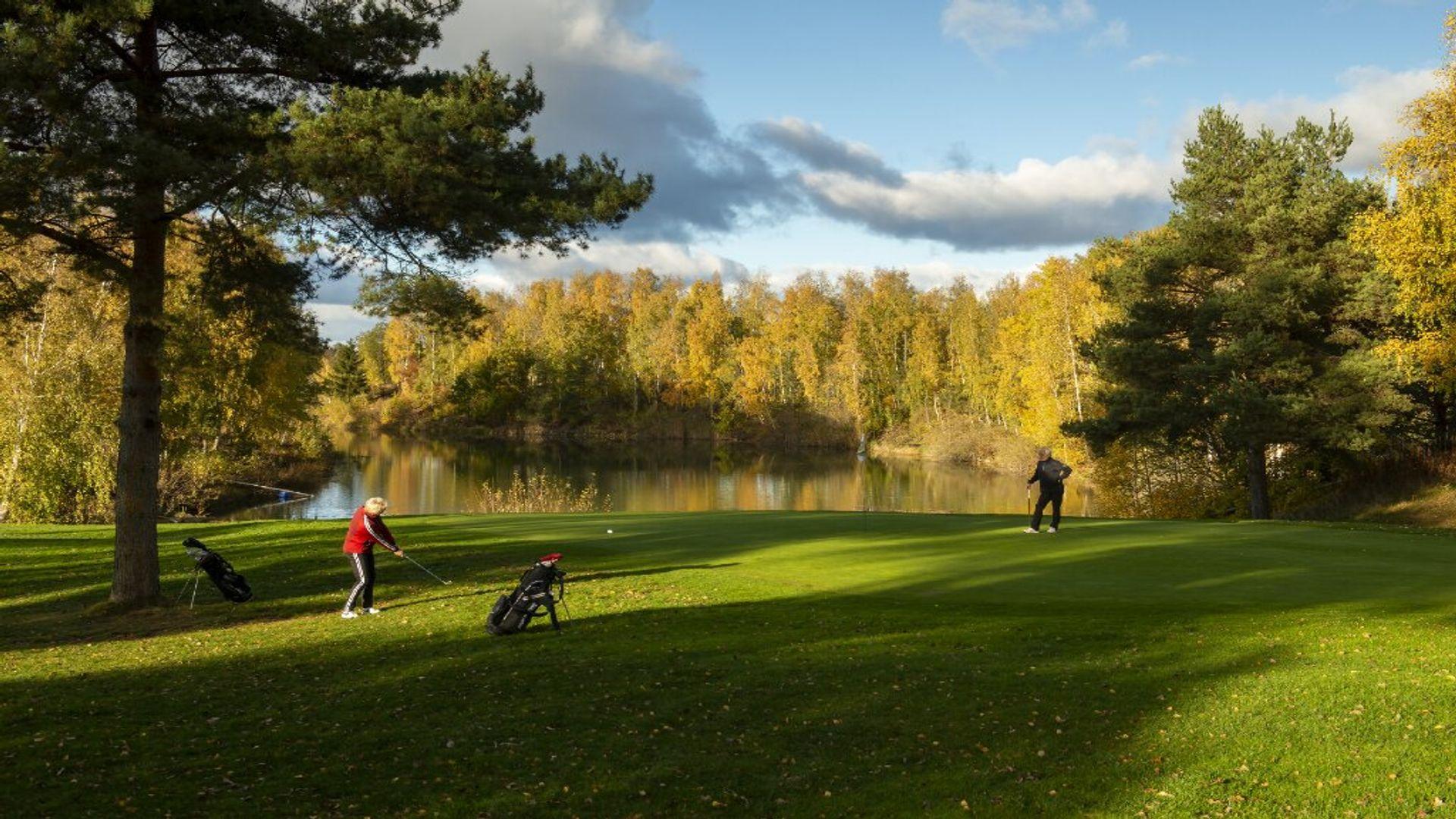 Vy över Strömsholms Golfklubb. Fotograf: Anders Geidemark