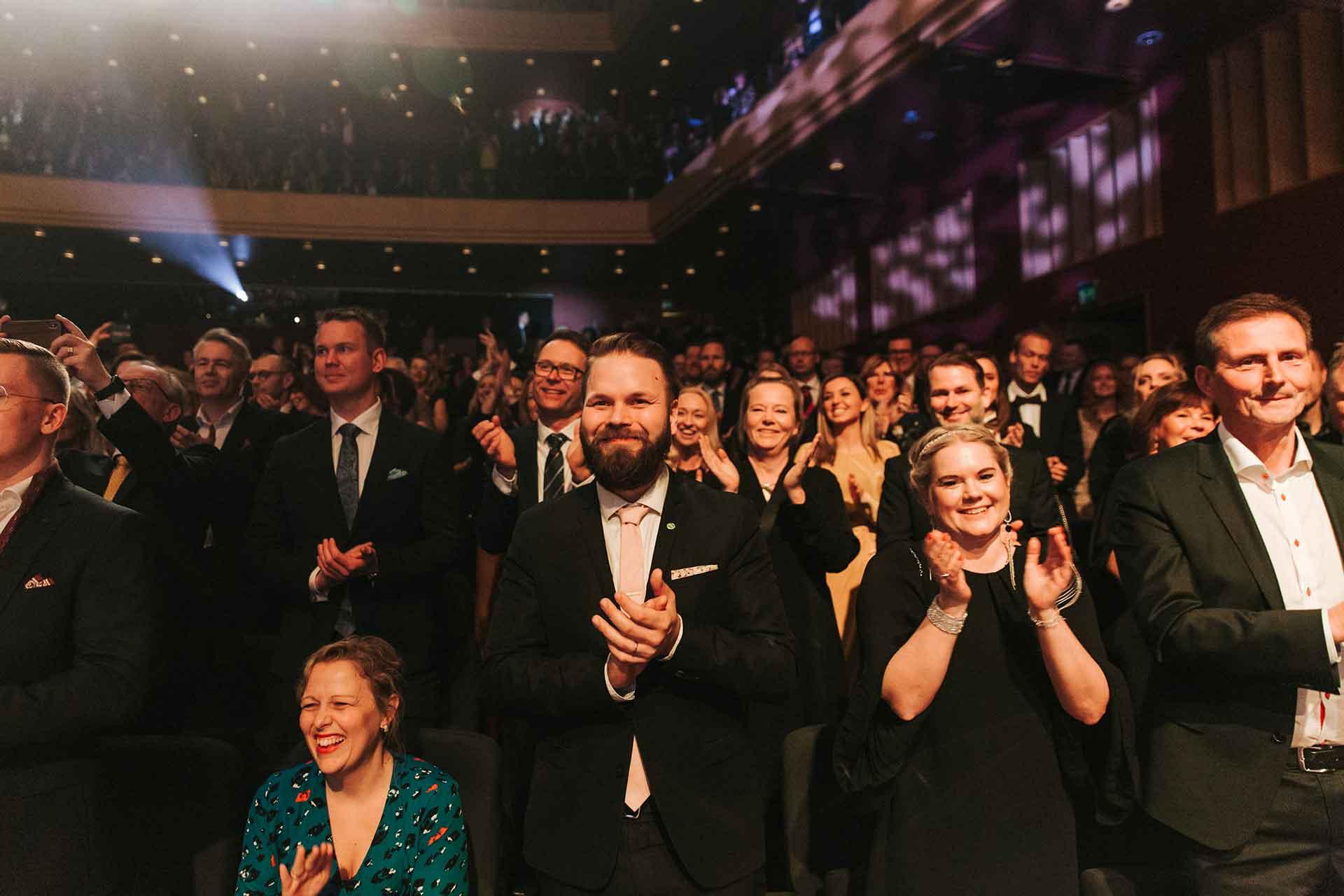 Publikhav på Västerås Konserthus under galan Guldstänk i Västerås. Fotograf: Henrik Mill
