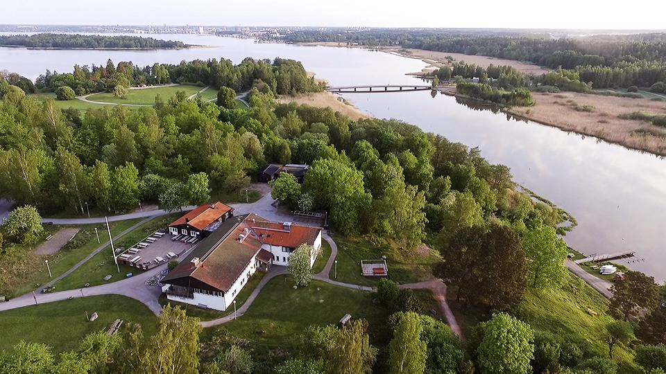 Flygfoto på Björnögården. Pressbild.