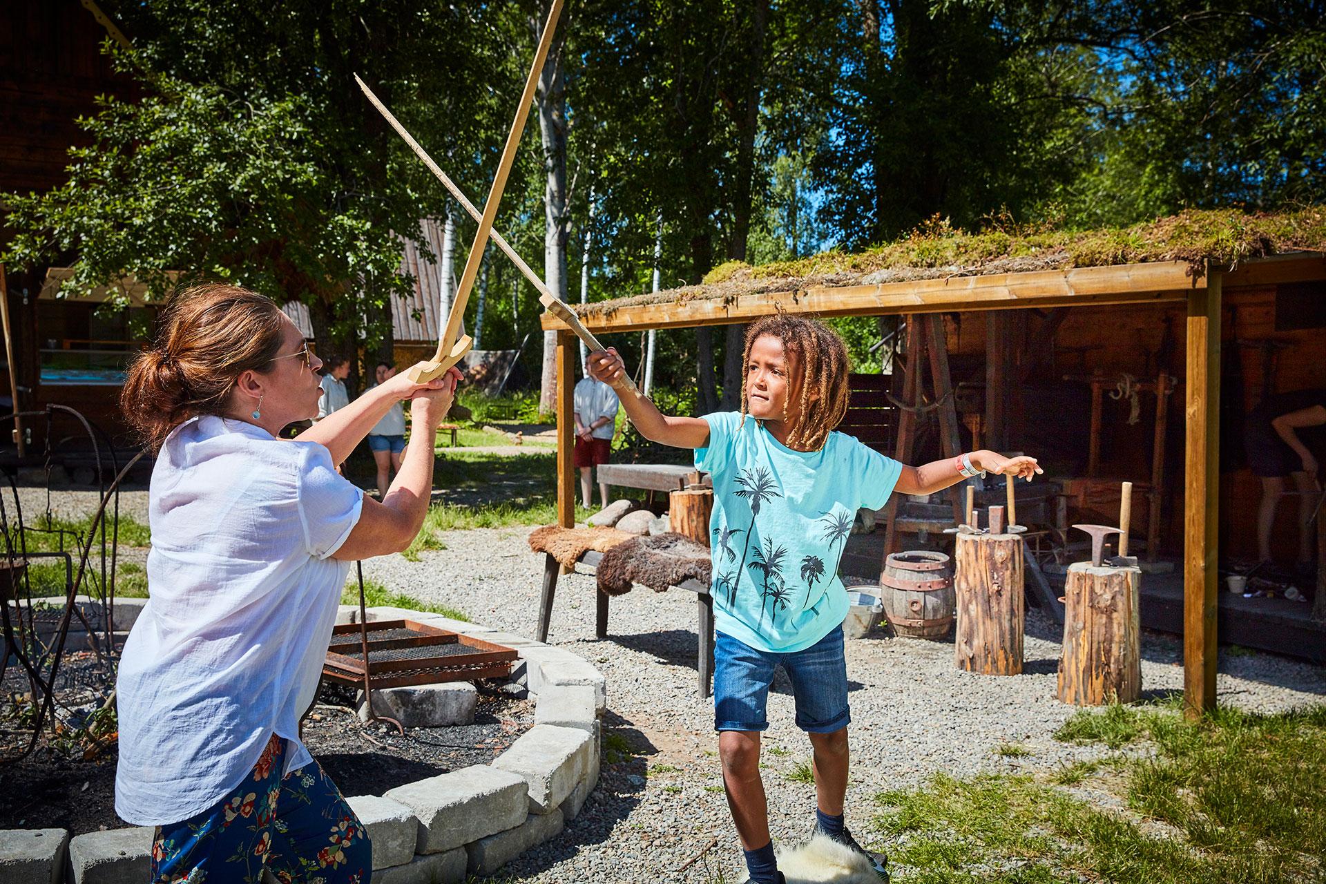 Vikingabyn på Frösåkers Brygga. Fotograf: Pia Nordlander