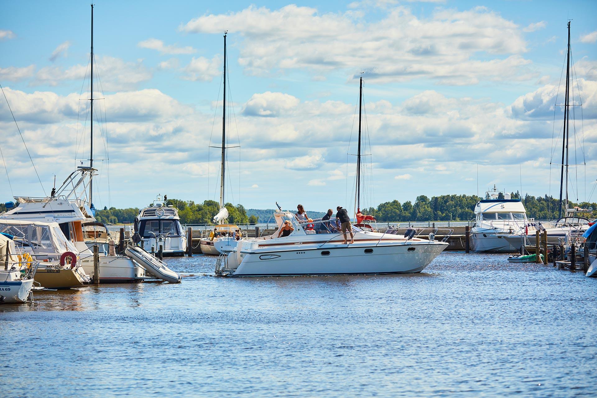 Båtar i Gästhamnen i Västerås. Fotograf: Pia Nordlander