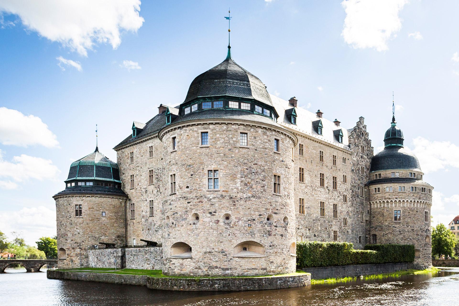 Vy bild över Örebro Slott