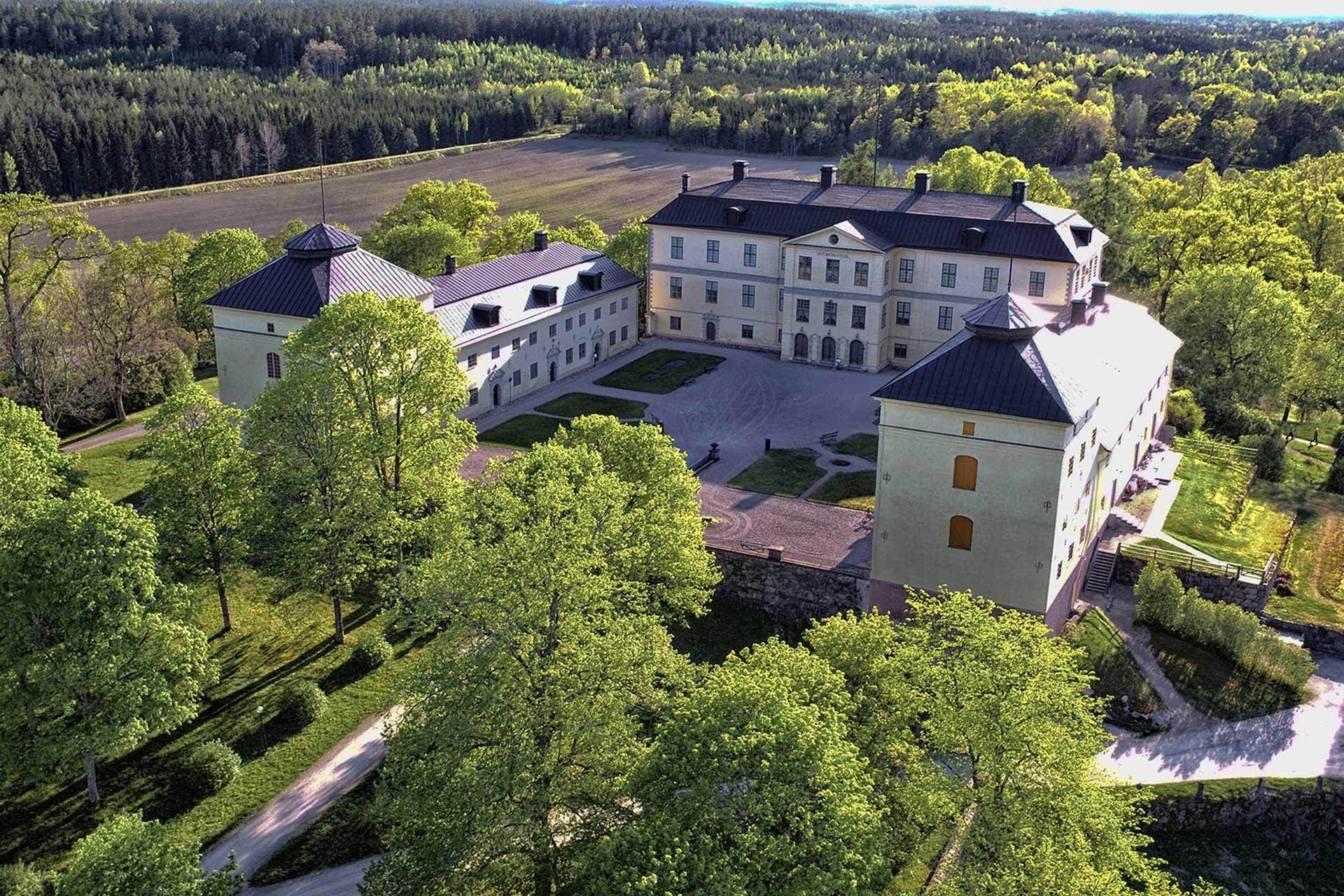 Vybild över Löfstads Slott i Norrköping