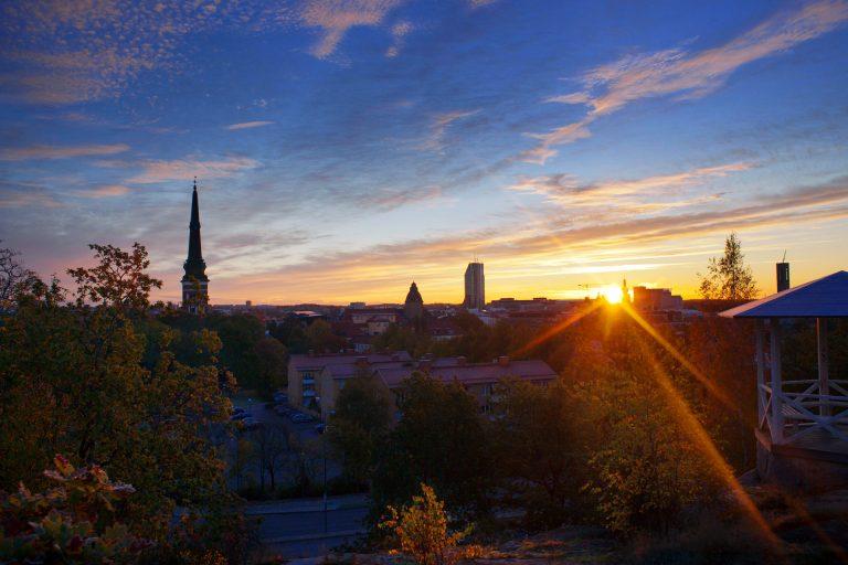 Vy över Västerås en sensommarkväll. Fotograf: Clifford Shirley