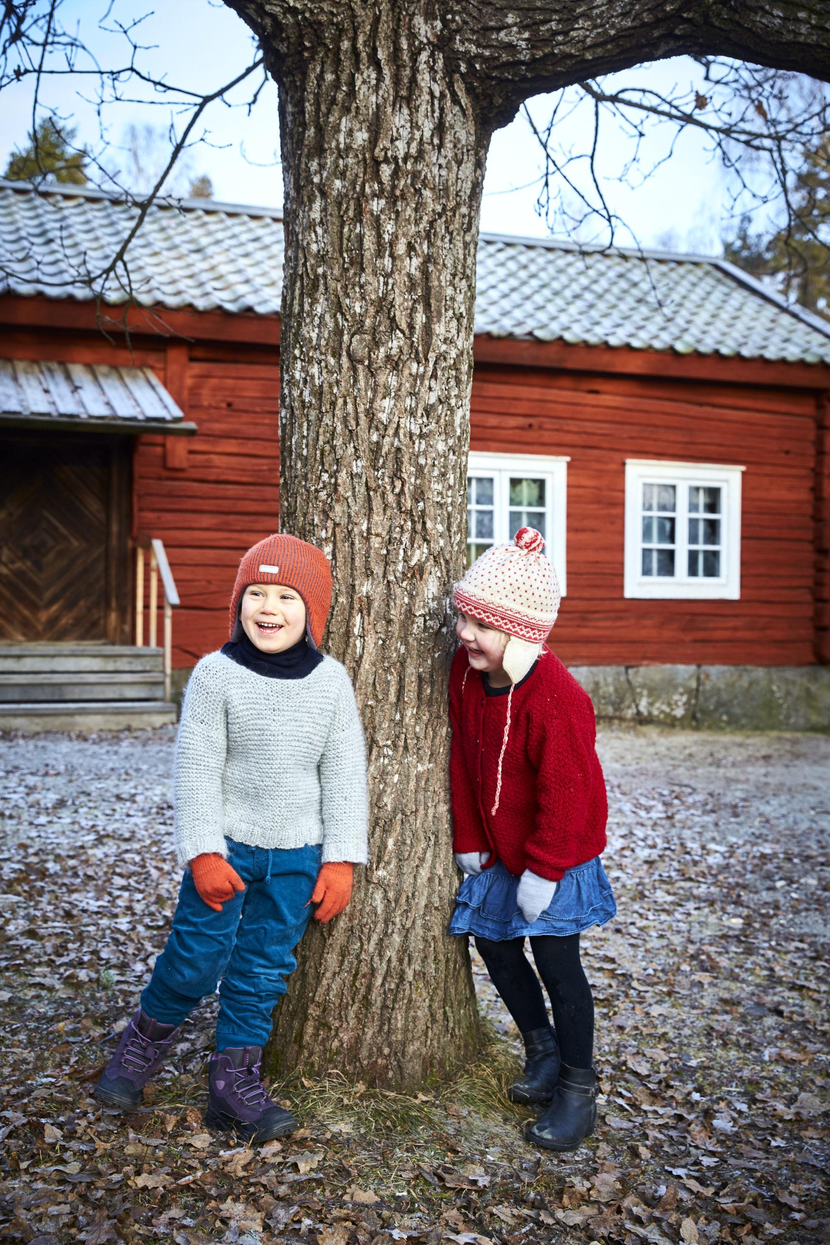 Barn på Vallby Friluftsmuseum. Fotograf: Pia Nordlander