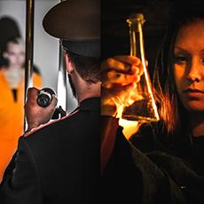 Två olika uppgifter du måste lösa inne på Escape House Västerås. Fotograf: Sophia Bergholm/Pressbild