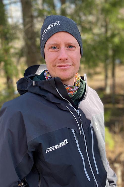 Porträtt på en man från företaget Outdoor Vagabond.
