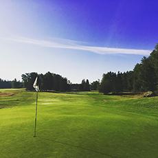 Vy från green på Arboga Golfklubb. Foto: Pressbild