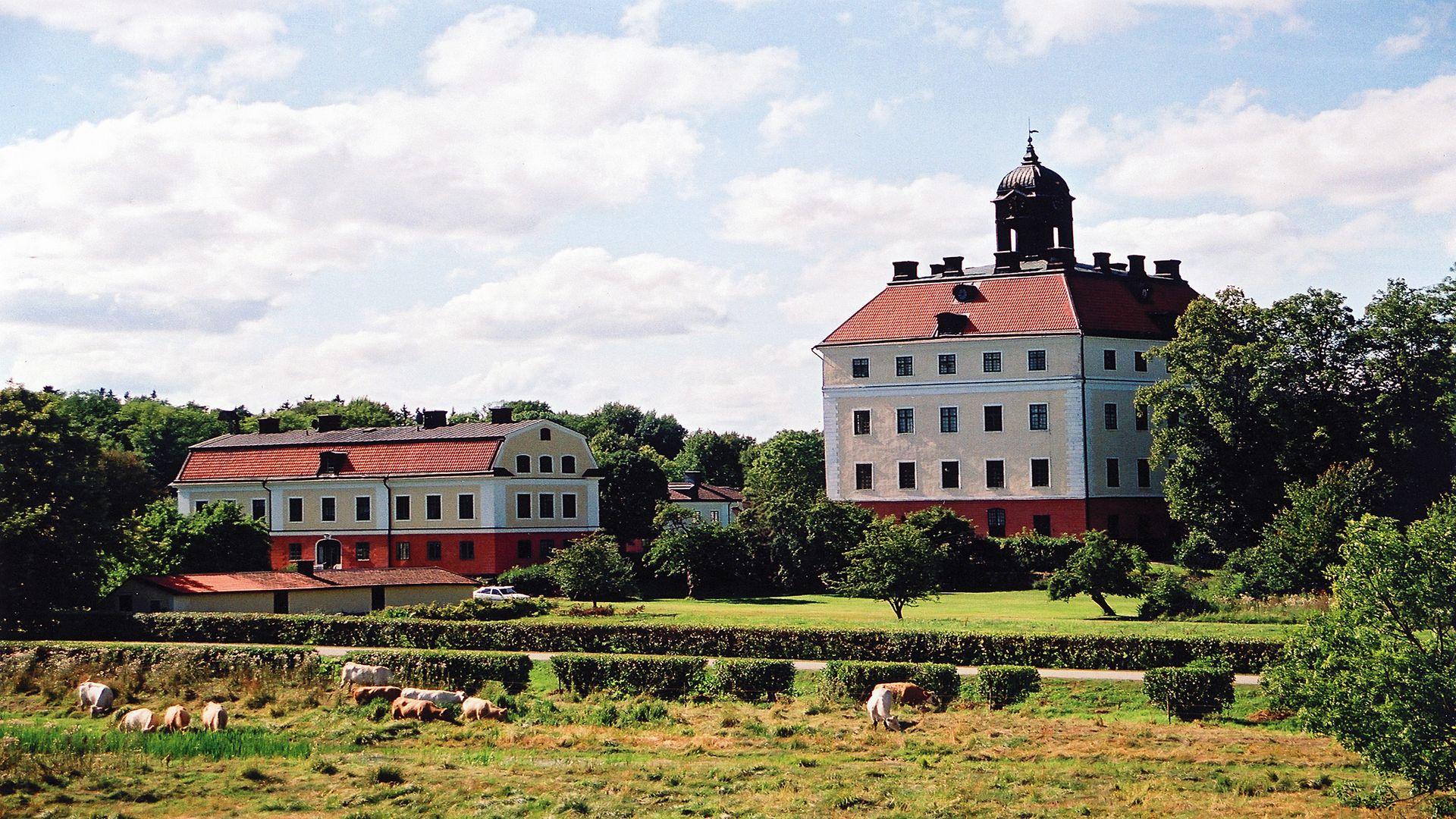 Vy över Ängsö slott. Fotograf: Jan Gustafsson