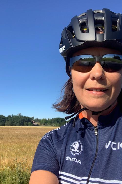 Cykel profilen Maria Engelfedt. Fotograf: Pressbild