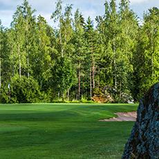 Vy över ett hål på Sala golfklubb. Foto: Pressbild