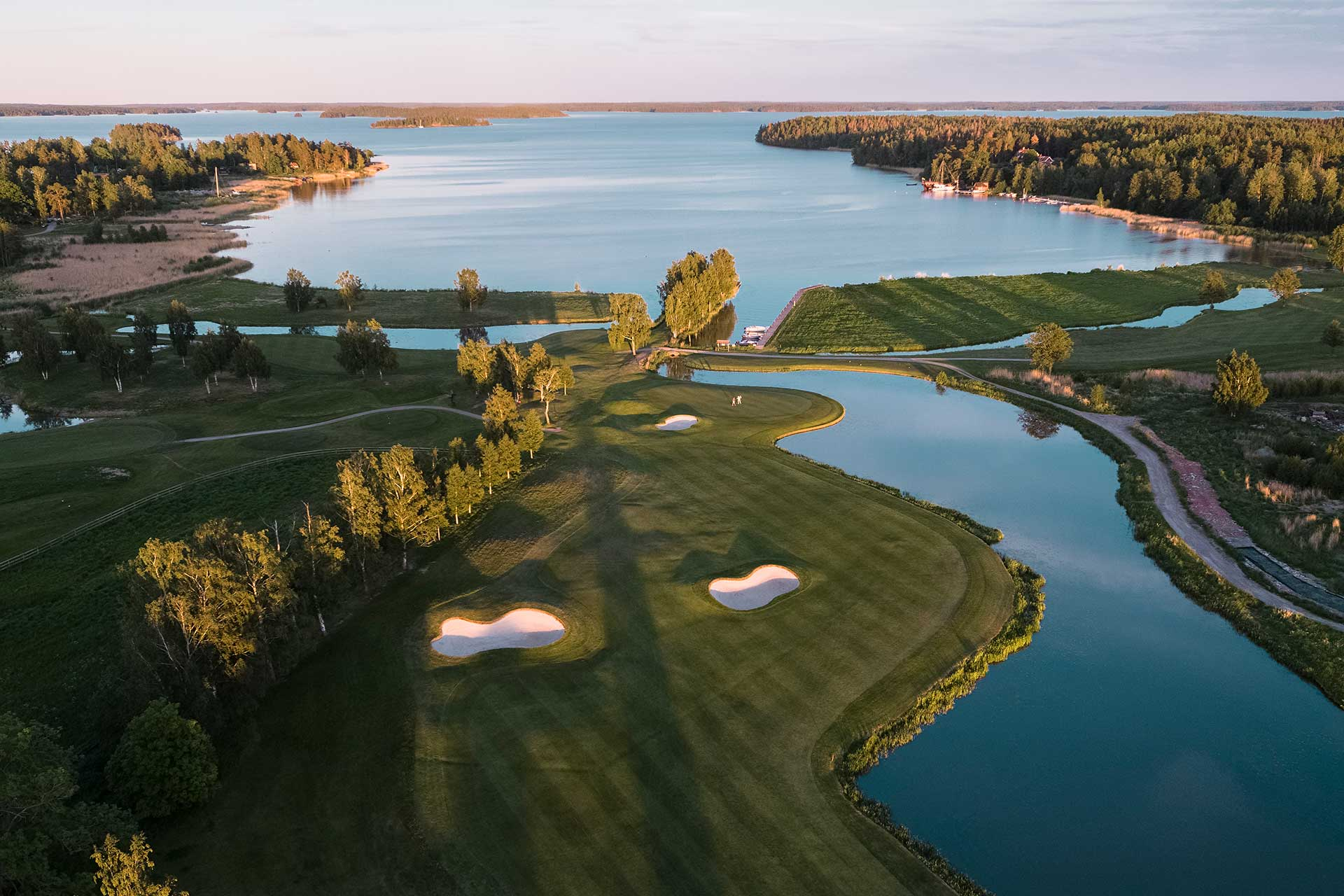 Vybild över Frösåkers Golf & Country Club. Foto: Jacob Sjöman