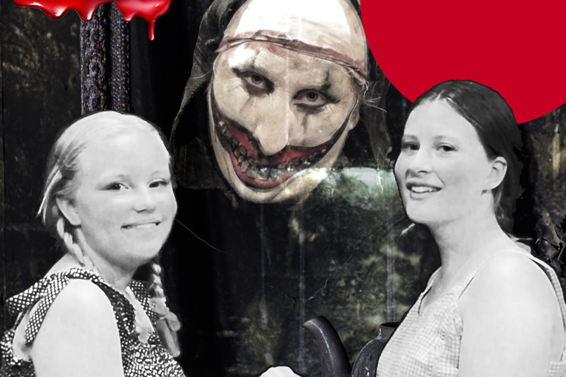 Karaktärer från skräckföreställningen Demonernas hus. Foto: Pressbild