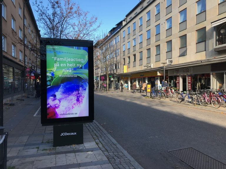 Digital-cityskylt