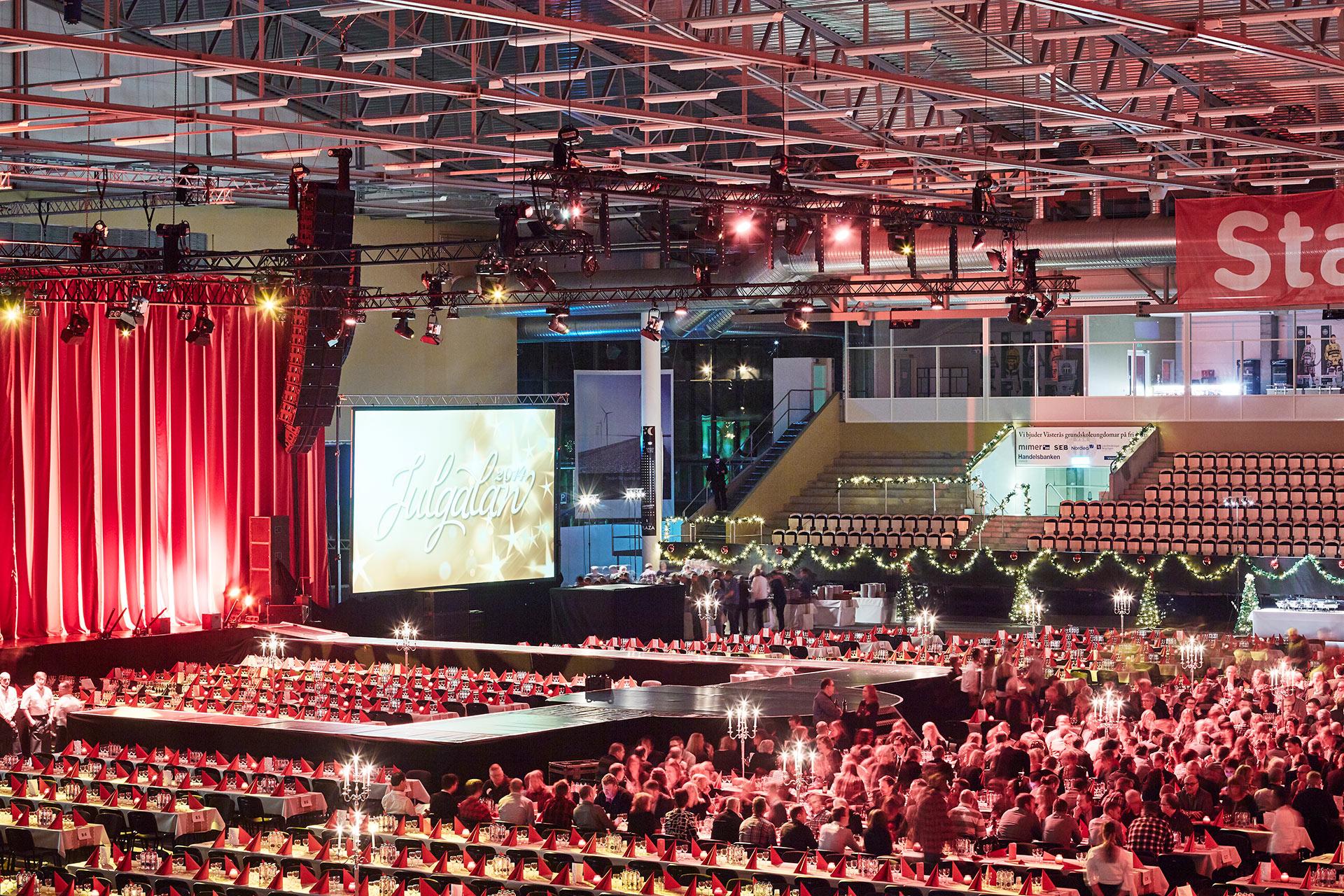 Julgala på ABB Arena Syd i Västerås. Fotograf: Pia Nordlander