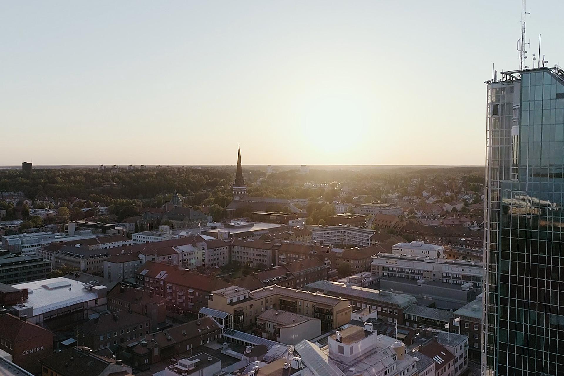 Vy över Västerås. Fotograf: Bo Lundvang