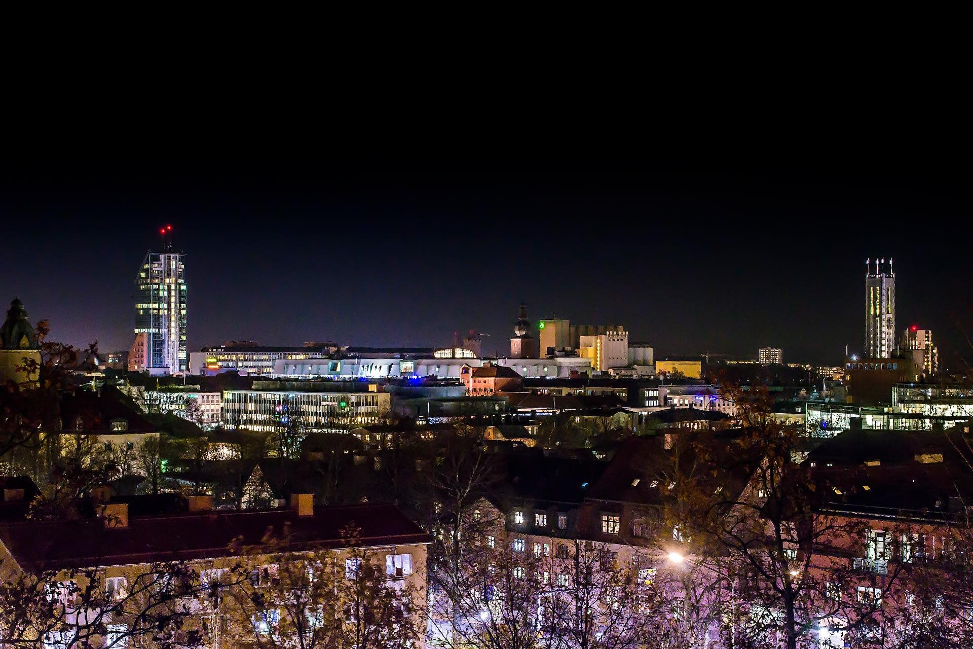 Västerås i kvällsbelysning. Fotograf: Mostphotos