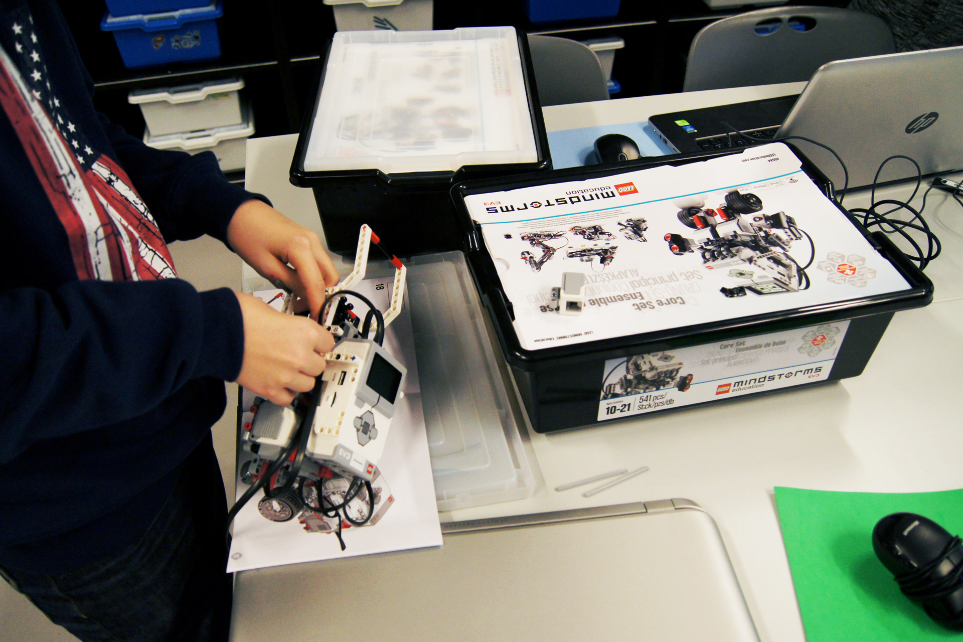 Programmera EV3-robotar hos expectrum i Västerås. Fotograf: Expectrum