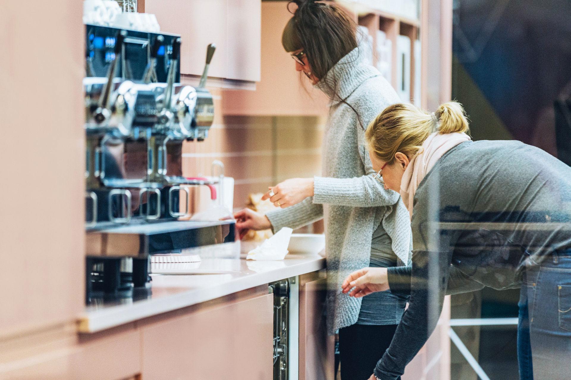 Kaffemaskinen hos expectrum i Västerås. Fotograf: Af Adam